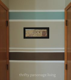 thrifty parsonage living painting horizontal stripes on walls diy - Bedroom Stripe Paint Ideas