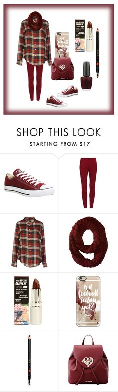 """""""Maroon"""" by aharcaki ❤ liked on Polyvore featuring Converse, Band of Outsiders, Neff, TheBalm, Casetify, Gucci, Love Moschino and OPI"""