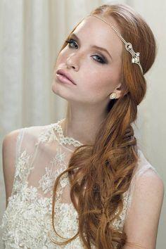 Boho Bridal Headband Bridal Hairband Bohemian by Ayajewellery, $119.00