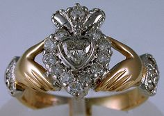 Diamond Claddagh Engagement Ring from Seawear. Big collection of Finger Rings from usa. Also deals in Trader of Diamond Claddagh Engagement Ring Diamond Claddagh Ring, Claddagh Rings, Claddagh Engagement Ring, Diamond Engagement Rings, Cute Jewelry, Vintage Jewelry, Irish Jewelry, Heart Shaped Diamond, Wedding Rings