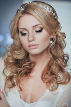 long down wedding hairstyle from Enzebridal
