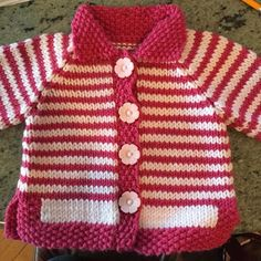 Embroidered Baby Vest Making, Baby Knitting Patterns, Knitting For Kids, Free Knitting, Crochet Patterns, Baby Dress Pattern Free, Baby Dress Patterns, Baby Vest, Baby Cardigan, Gilet Crochet