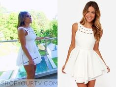 Nikki Bella is wearing this ivory dress in this episode of Total Divas. It is the Lulu's Flirting with Danger cutout ivory dress. Sold out. Wwe Total Divas, Nikki Bella, Ivory Dresses, Cutout Dress, Season 3, Tv Shows, How To Wear, Flirting, Clothes