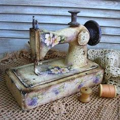 Very cute and creative. I have an old sewing machine.