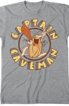 Captain Caveman T-Shirt Pre-historic times had cavemen, and we had Cavey clad in his man-fashion cape.  Enjoy wearing this popular shirt while watching the videos and appreciating the fine art and illustrations.