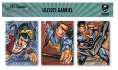 Trabalho para Kryptozoic - Ulisses Gabriel - Sketch Cards DC Comics Bombshells - Liga da Justiça!!! Wonder-Women - Dick Grayson - Superman!!!