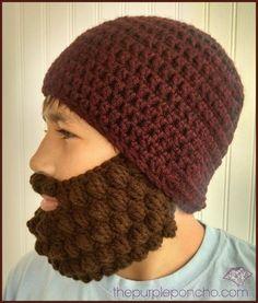 8c5bf808d4a Crochet Bobble Beard Review - Free Pattern. Crochet Beard HatKnitted ...