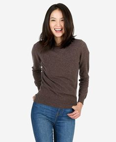 We made a sweater so luxurious and soft you won't want to take it off, and in a style so versatile that you won't need to. Introducing your new favourite sweater - the Mongolian cashmere crew neck. Styling this one is a walk in the park, so go do just that in our slim jeans and rain boots, or layer it over a silk shirt with tailored pants and heels for an office-ready look.