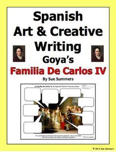 Spanish Art Creative Writing Activity by Sue Summers - Goya's Familia de Carlos…