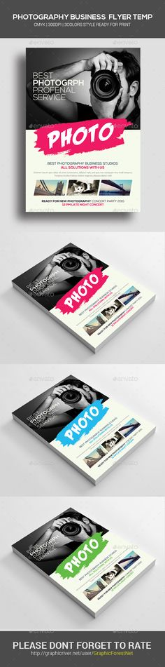 Photography Flyer Template | Flyer template, Photoshop and Photographers