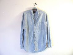 vintage light wash denim jean shirt // by dirtybirdiesvintage, $25.00