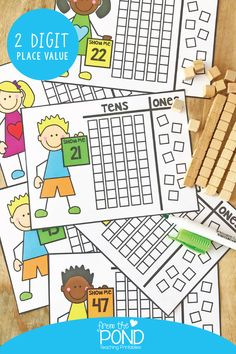 With the release of Math Pack 29 recently, we have enjoyed bringing you some ideas and resources for teaching place value. Particularly 2 digit place value. Presenting and engaging with place… Math Classroom, Kindergarten Activities, Teaching Math, Teaching Place Values, Preschool, Classroom Activities, Place Value Activities, Math Place Value, Place Value Cards
