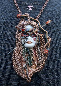Sagittarius pendant / Sagittarius necklace by claycessories
