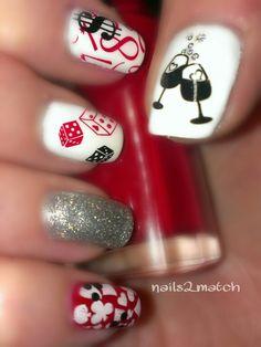 Las Vegas party nails. #nails #nailart