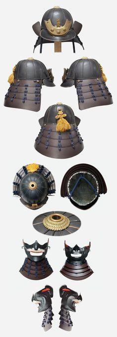 Kabuto Samurai, Samurai Weapons, Samurai Helmet, Helmet Armor, Samurai Armor, Armadura Medieval, Japanese Warrior, Japanese Sword, Japanese Culture