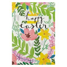 Buy Caroline Gardner Happy Easter Floral Cards, Pack of 6 Online at johnlewis.com