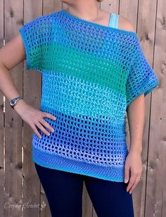 Off-the-Shoulder Crochet Top - Free Pattern by Croyden Crochet