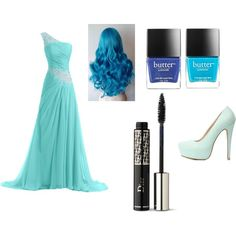 Blue day by karoinesommerfugl11 on Polyvore featuring Charlotte Russe, Christian Dior and Butter London