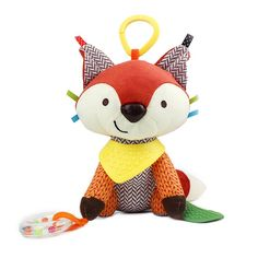 CAIJ Baby Infant Plush Animal Kids Stroller Hanging Fox Toy Educational Multifunctional Baby Rattles Pram Cute Doll for baby toys: Amazon.co.uk: Baby