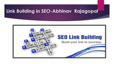 Abhinav Rajagopal Is a foremost SEO expert and founder of Search Engine Land,He…
