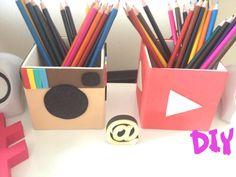 Porta Lápis | Instagram e Youtube - DIY ♥ ♥   EVA