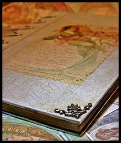 Art Nouveau diary made with decoupage technique Art Nouveau, Decoupage, Decorative Boxes, Blog, Home Decor, Decoration Home, Room Decor, Blogging, Home Interior Design