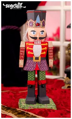 Look at this wonderful, amazing 3D nutcracker from CLARA'S CHRISTMAS EVE KIT Mary created!  Yes, yes, yes, it is made out of paper!  Totally off the wall awesome!
