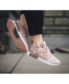 The adidas NMD Duck Camo in pink is showcased in a lifestyle setting. Find it at select adidas stores nationwide on Dec. Adidas Nmd Xr1, Adidas Nmd R1 Pink, Cheap Adidas Nmd, Adidas Sneakers, Pink Sneakers, Sneakers Fashion, Fashion Shoes, Women's Fashion, Sporty Fashion