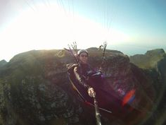 Paragliding Table Mountain is the highest launch site in Cape Town and offers you incredible views when paragliding off of it. Table Mountain, Mountain High, Paragliding, Tandem, Cape Town, Bradley Mountain, Adventure Travel, The Incredibles, Sport