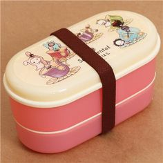 pink Sentimental Circus Bento Box 2 pcs Lunch Box rabbit 1