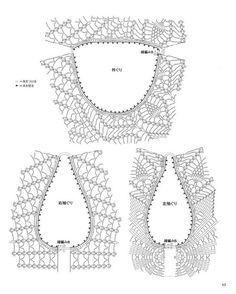 Fabulous Crochet a Little Black Crochet Dress Ideas. Georgeous Crochet a Little Black Crochet Dress Ideas. Tunisian Crochet Stitches, Crochet Yoke, Crochet Cardigan Pattern, Crochet Collar, Crochet Diagram, Crochet Blouse, Crochet Chart, Love Crochet, Crochet Patterns