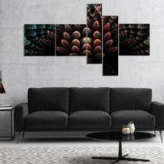 Designart 'Fractal 3D Flower Fantasy' Abstract Canvas Art Print