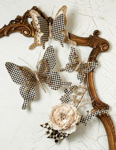 Our Courtly Check Butterfly Clips are perfect for packages, floral arrangements, or for adding finishing touches to wreaths and Christmas trees. Coming soon!