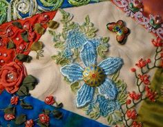 I ❤ crazy quilting & embroidery . . .  CQJP March ~By NickiLee