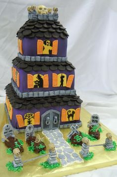 Halloween Haunted House Cakes | Mysteries and My Musings: Review - Blood Bath & Beyond