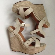 Madison Harding wedges Perfect for jeans!  Sold out online. Madison Harding Shoes Platforms