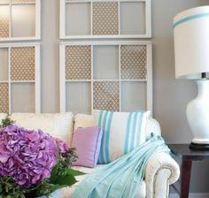 Kreieren Sie Schicke Fensterdeko Aus Gebrauchten Fensterrahmen. Praktische,  Stilvolle Ratschläge Und Originelle DIY Ideen Für Ihr Zuhause Sammeln.