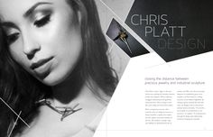 Chris Platt Design - Magazine Spread by Kelly Vars, via Behance