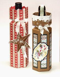 Hallo ihr Lieben! Wir zeigen euch heute die Anleitung zur Flaschenverpackung . Gerade zur Weihnachtszeit wird ja gern mal ein edler T...