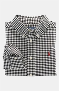 61f3e0d0593 Ralph Lauren Gingham Button Down Shirt (Toddler) available at  Nordstrom  Boys Shirts
