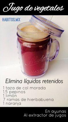 Jugo elimina líquidos retenidos #habitosmx #hábitos #salud #health