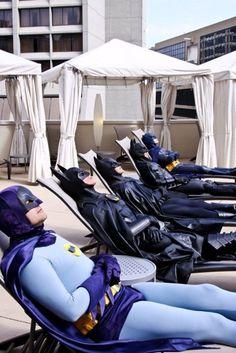 The Evolution Of Batman's Sunbathing.