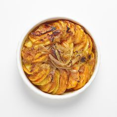 Thanksgiving recipe: Sweet Potato Apple Gratin from The Culinary Institute of America.