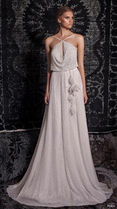 persy bridal fall 2016 sleeveless cross strap blouson aline wedding dress (15) mv