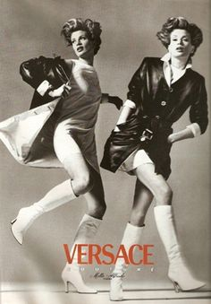 WE ♥ VERSACE- Shalom Harlow, Kristen McMenamy, Amber Valletta & Trish Goff for Versace Fall 1995 by Richard Avedon. www.imageampilfied.com, Image Amplified2