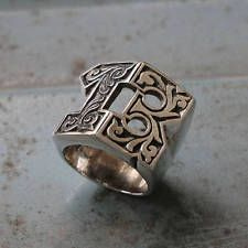 SOLID 925 STERLING SILVER 13 THIRTEEN NUMBER DESIGNER UNISEX MENS RING JEWELRY