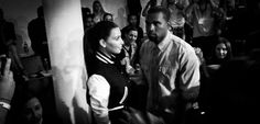 Kim Kardashian & Kanye West at Louise Goldin Fashion Show | New York Fashion Week  Photo taken with an HTC One