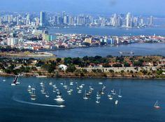 Panama-Stadt // Panama city skyline ◆Panama – Wikipedia http://de.wikipedia.org/wiki/Panama #Panama