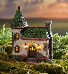 Main image for Miniature Fairy Garden Bingham Solar House Clay Houses, Miniature Houses, Miniature Fairy Gardens, Miniature Fairies, Clay Fairy House, Fairy Garden Houses, Fee Du Logis, Cactus E Suculentas, Clay Fairies