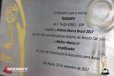 Recebemos ontem na cerimônia de entrega, o Prêmio Marca Brasil por sermos considerada a Melhor Marca de Amplificador em 2017! Compartilhamos com você, apaixonado por som automotivo mais esta conquista! Você é o motivo de chegarmos até aqui e poder oferecer produtos de confiança e qualidade para seu veículo!  Mais uma vez nosso MUITO OBRIGADO!  TARAMPS ELECTRONICS! O futuro presente em suas mãos!  #PremioMarcaBrasil2017 #Champions #BestAmplifier